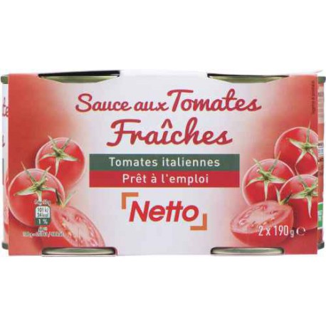 Netto Sauce Tomate 190G X2