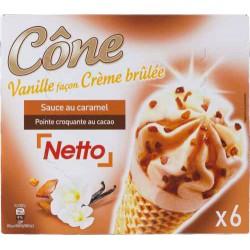 Netto Cone Creme Brule X6 417G