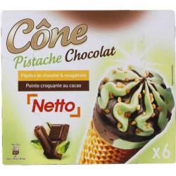 Netto Cone Choco/Pista X6 430G