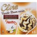 Netto Cone Rhum/Raisinx6 420G