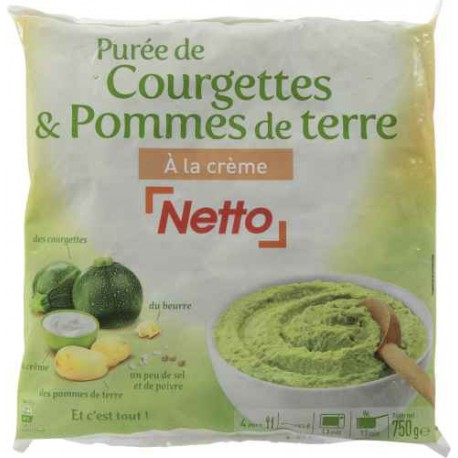 Netto Puree Courgette/Pdt 750G