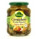Kühne Cornichons Aigres-Doux Le Bocal De 185 G Net Égoutté