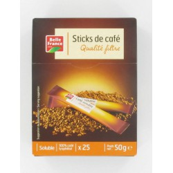 Etui Sticks Cafe Soluble Lyophilise 25X2G B.France