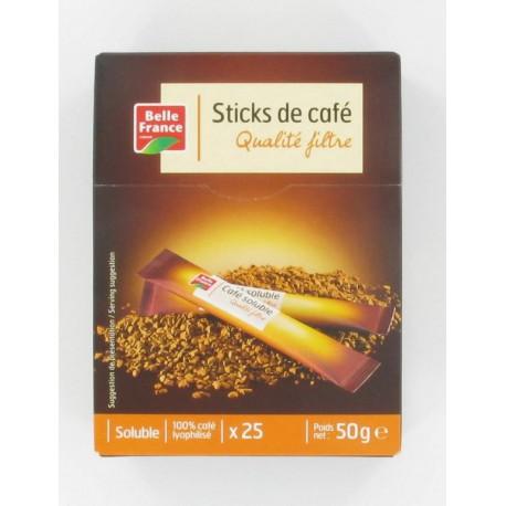 Etui Sticks Cafe Soluble Lyophilise 25X2G B.France