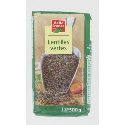 Lentilles Vertes Sachet Cello 500G Belle France