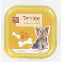 Barquette 150G Menu Chien Volaille Belle France