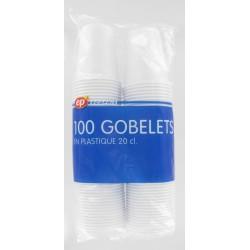P100 Gobelet Blanc20Cl