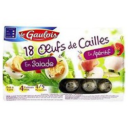 200G Oeufs Cailles X18 Gaulois