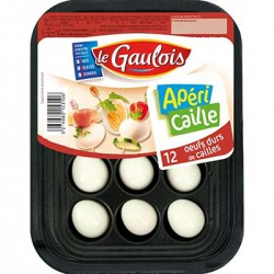 120G Oeufs Caille Cuits X10