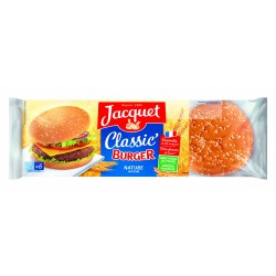 Jacquet Pain Hamburger Bun S X6 Jacquet 330G