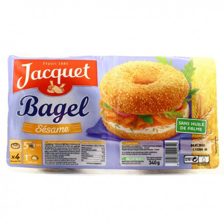 340G 4 Bagel Sesame Jacquet