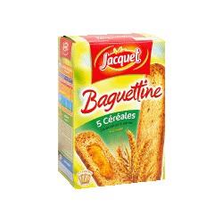 Jacquet Pain Grillé Baguettine 5 Céréales La Boite De 24 Tartines - 300 G