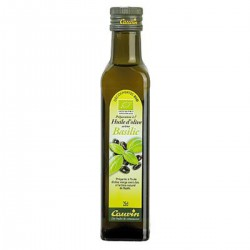 25Cl Huile Olive Vierge Extra Bio Basilic Cauvin