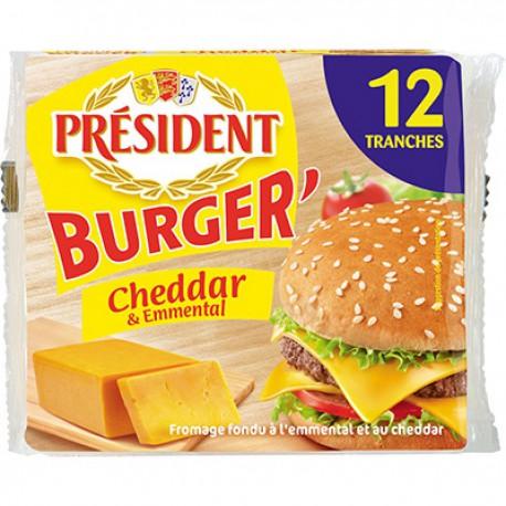 President Croque Burger Emmental Cheddar 200G