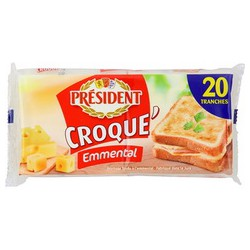 340G 20 Tranches Emmental Croque Monsieur President