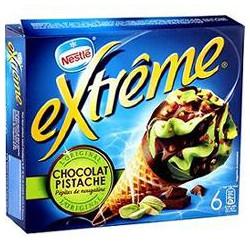 720Ml 6 Cornets Extreme Chocolat/Pistache Nestle