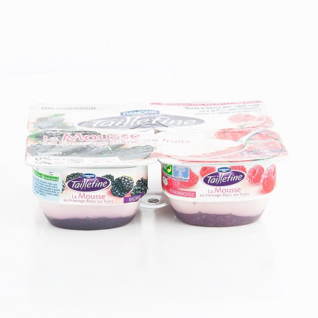 Danone Taillefine Mousse Frmg Blanc Frts Framboise Mure 4X