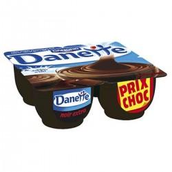 4X125G Creme Dessert Chocolat Noir Extra Danette