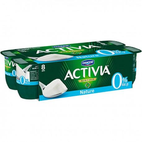 8X125G Yaourt 0% Nature Activia