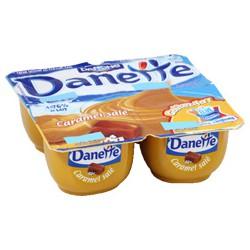 4X125G Creme Dessert Saveur Caramel Sale Danette