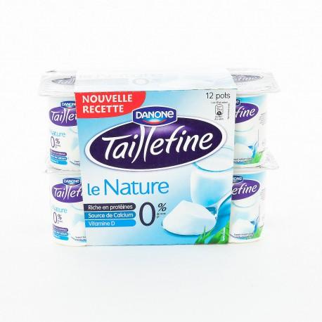 12X125G Yaourt Nature 0% Taillefine Danone