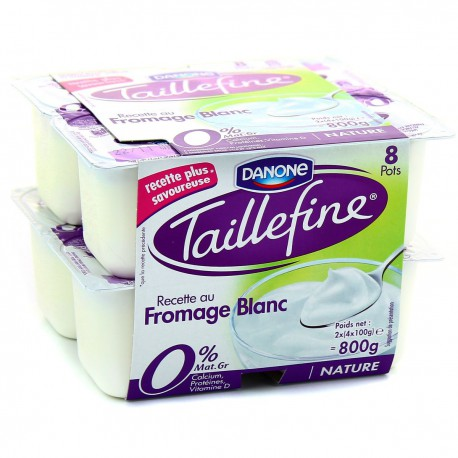 8X100G Fromage Blanc Nature Taillefine