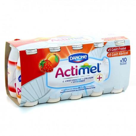 10X100 Actimel Arome Fraise/Abricot