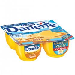 Danette Crème Dessert Gout Vanille Sur Lit De Caramel 4X125G