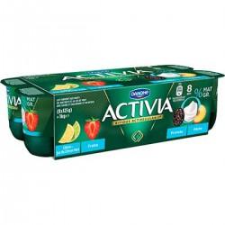 8X125G Yaourt Activia Fruits Rouges 0%