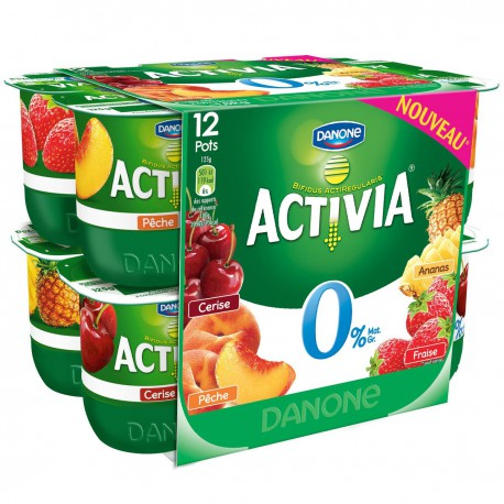 Activia Fruits Pan.0% 12X125G