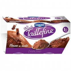 4X60G Mousse Chocolat Taillefine