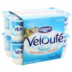 12X125G Yaourt Veloute Nature Danone