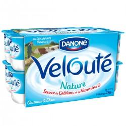 16X125G Yaourt Veloute Nature Danone