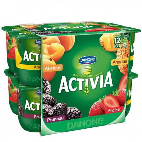 12X125G Yaourt Activia Fruits Panache