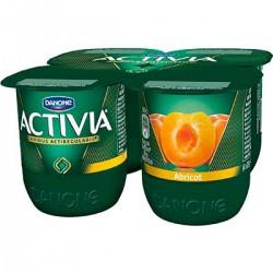 4X125G Yaourt Activia Bifidus Fruit Abricot