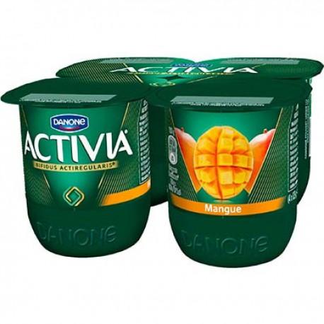 4X125G Yaourt Activia Bifidus Fruit Mangue