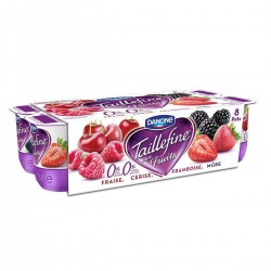 8X125G Yaourt Taillefine Fruits Rouges