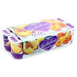 8X125G Yaourt Taillefine Fruits Jaunes