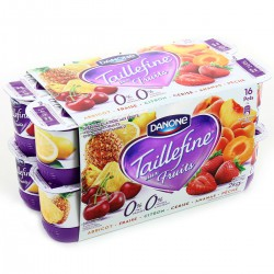 16X125G Yaourt Taillefine Fruits Panaches