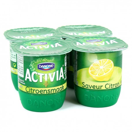 4X125G Activia Saveur Citron