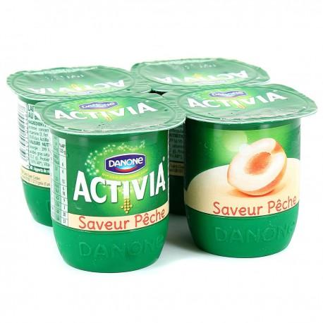 Activia Saveur Peche 4X125G