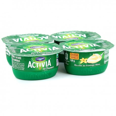 4X120G Yaourt Fromage Blanc Vanille Activia