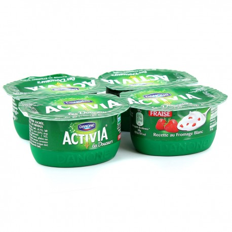 4X120G Yaourt Fromage Blanc Fraise Activia