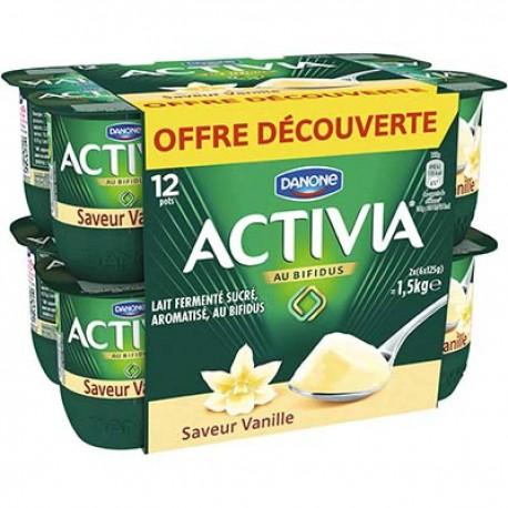 Activia Saveur Vanille 12X125G