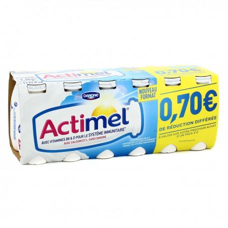 Actimel Nature Sucre 12X100G