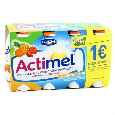 Actimel Sav.Multifruits 8X100G