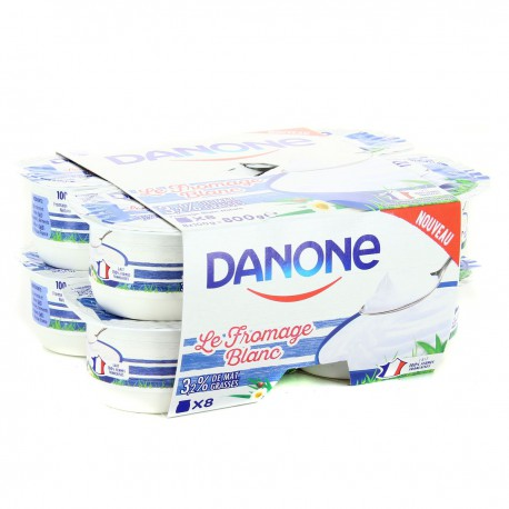 8X100G Fromage Blanc 3%Mg Dano