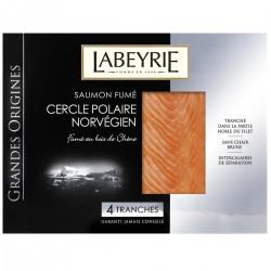 130G 4 Tranches Saumon Fume Norvegien Grandes Origines Labeyrie