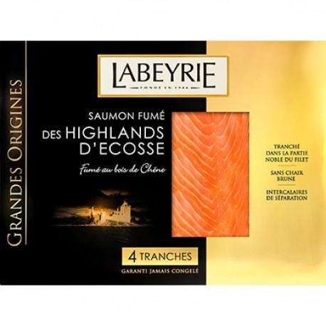 130G 4 Tranches Saumon Fume Grandes Origines Labeyrie