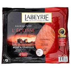 150G 4 Tranches Saumon Fume Ecosse Labeyrie